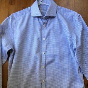 Men's Charles Trywitt Dress Shirt Navy Check